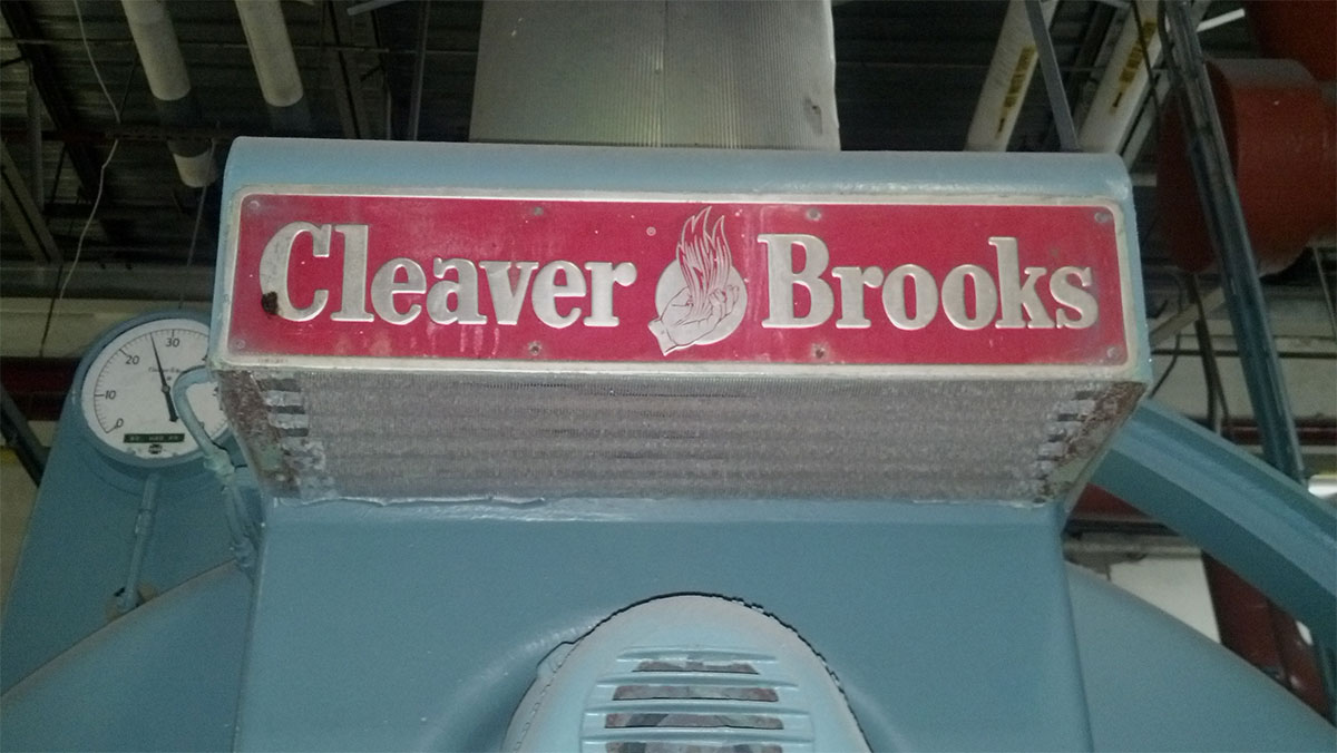 Big Cleaver Brooks Machine