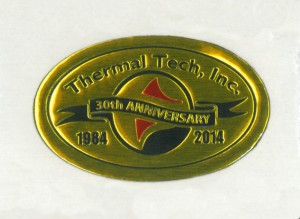 Thermal Tech 30 year anniversary badge