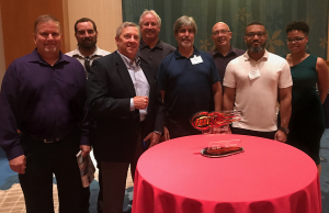 2018 Fast 50 Awards Luncheon (L to R) Tony Weise, John Best, Rick Wilkins, Phil Knott, Bill Gilbert, Nate Butler, Anthony Pickens, Ana Francis